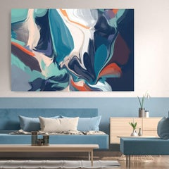 "Aqua Painting Textured Giclee on Canvas 40x60"" Formless and Wordless"
