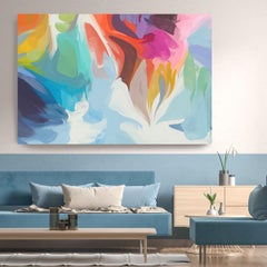 "Colorful Painting Textured Giclee on Canvas 45x60"" Another Self"