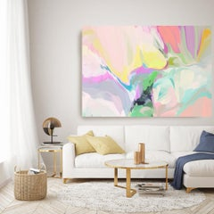"""Contemporary Flow Painting Textured Giclee on Canvas 45x60"""" The world before me"""