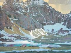Original acrylic painting by Robert Genn  THE LIGHT IN OPABIN