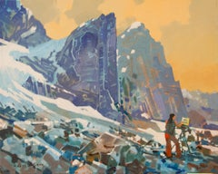 Original acrylic painting by Robert Genn  AT THE PEARL, BUGABOOS