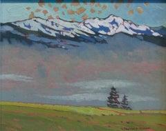 Original oil painting by Robert Genn  ALPINE (BRITISH COLUMBIA)