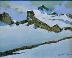 Original acrylic painting by Robert Genn FROM THE MT ASSINIBOINE TRAIL