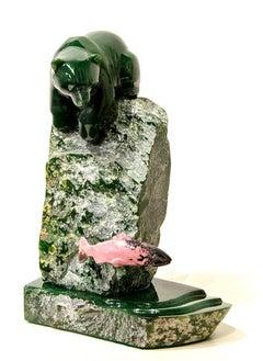 Original multi-gem sculpture by Lyle Sopel  PERFECT CATCH
