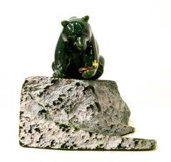 Original multi-gem sculpture by Lyle Sopel  GOLDEN FIND