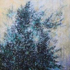 Original acrylic painting by Bev Rodin  FLS - SNOWFALL ON WHITE PINES