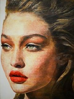 Original oil painting by Robert Lemay  GIGI