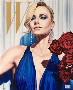 Original oil painting by Robert Lemay  MYTHOLOGY 7, CHARLIZE THERON