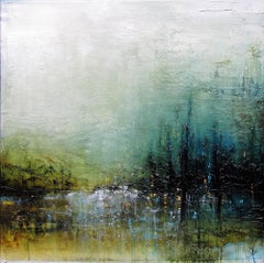 Original mixed media painting by Laura Harris  THESE QUIET PLACES