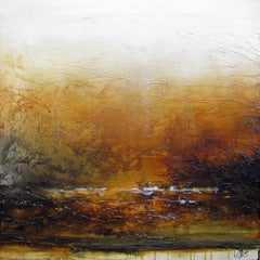 Original mixed media painting by Laura Harris  WE`RE ALL UNDER THE SAME SUN