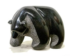 Original granite sculpture by Stewart Steinhauer  GRANDMOTHER BEAR SERIES