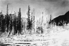 Original charcoal drawing by Jennifer Annesley   BOW MIST