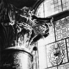 Original charcoal drawing by Jennifer Annesley   ROMAN ORDER