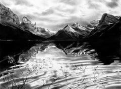 Original charcoal drawing by Jennifer Annesley  PADDLING MALIGNE