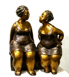 Limited edition bronze sculpture by Rose-Aimee Belanger  COMPLICITY  E.A. III/IV