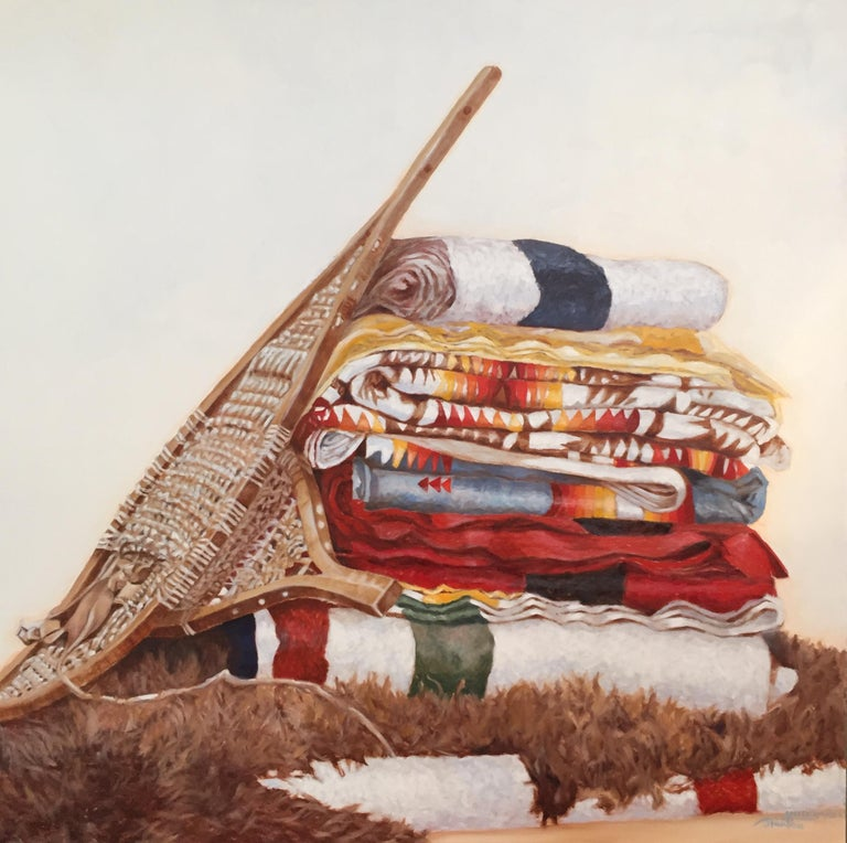Janice works mostly in large scale oil paintings, on fine imported Belgian linen. These traditional materials allow for sensitive, fine detail and archival quality, and are usually mounted on hand-made, customized stretchers with a deep, significant