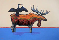 Original acrylic painting by Terry McCue titled  PERCHED