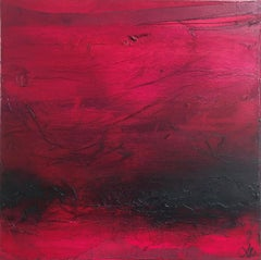 Original mixed media painting by Laura Harris  YES, PINK