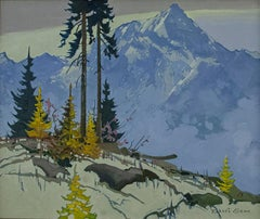 Original acrylic painting by Robert Genn titled  SELKIRK HIGH PATTERN ca. 1980