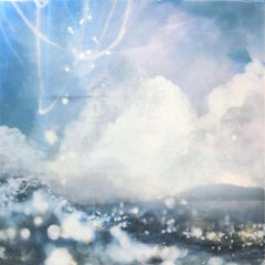 Original mixed media painting by Steven Nederveen  THE MERGING OF SEA AND SKY