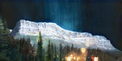 Original mixed media on panel by Steven Nederveen titled  NIGHT WATCH