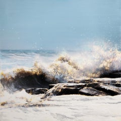 Original mixed media on panel painting by Steven Nederveen titled  SEA SPRAY