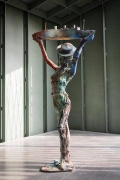 Queen Mary, Patinated Bronze Sculpture, Dutch Contemporary Art