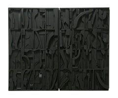Nevelson-like , inspired, sculptural, three dimensional, black, geometric