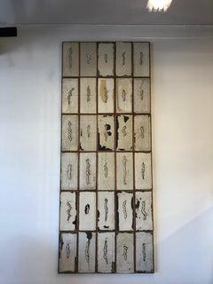 Untitled, Abstract, long, wood, tall, tan, gray, tangled