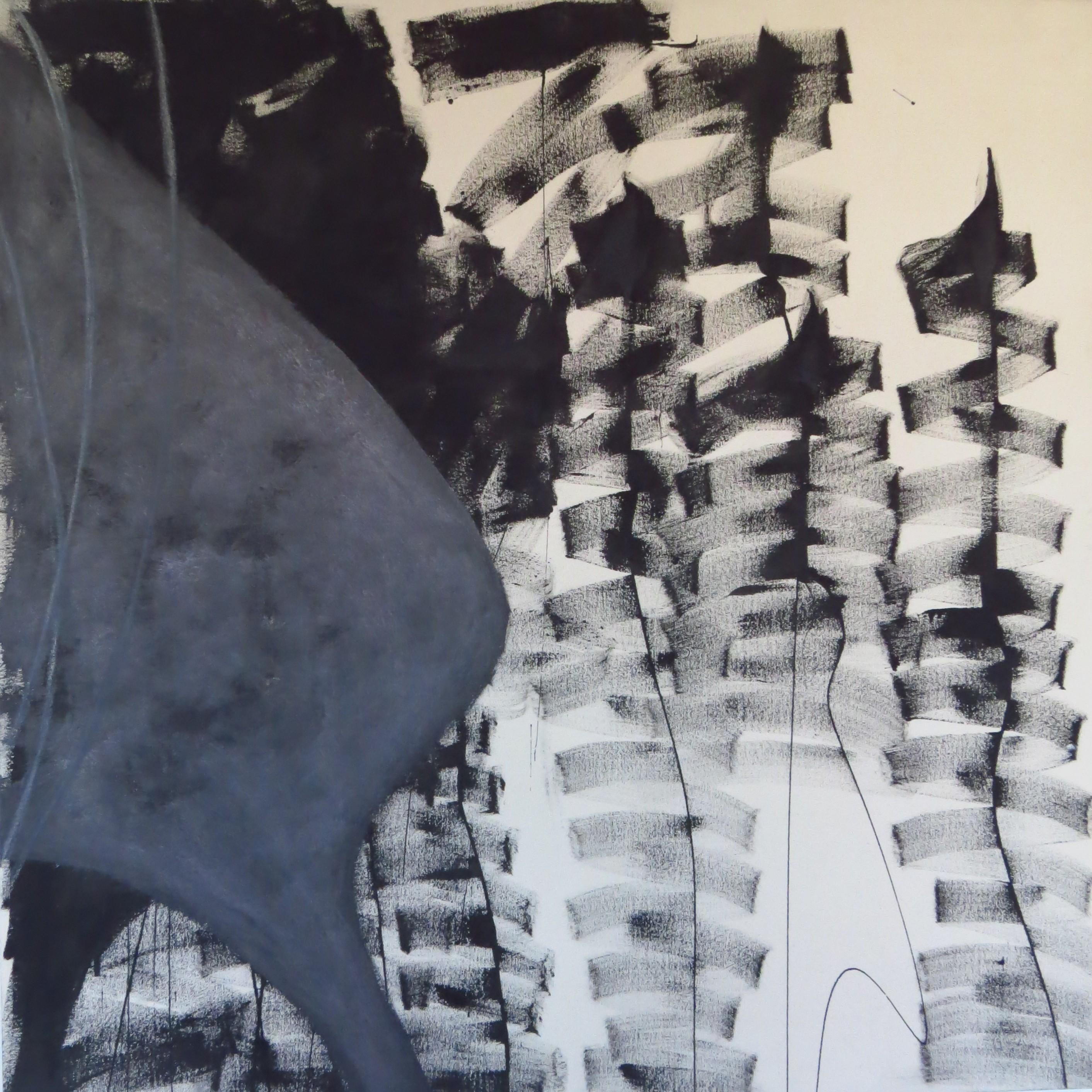 monochromatic, abstract, textured, painting