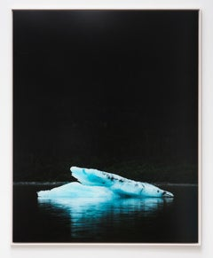 Iceburg, Photography, Land, Ocean, Black, Image, Triptych, Water, Blue