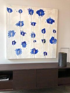 Abstract, Blue, Drip, Splatter, Paint, Canvas