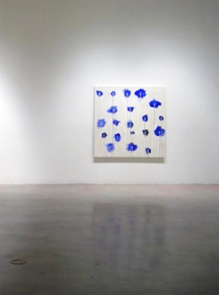 Abstract, Blue, Drip, Splatter, Paint, Canvas  For Sale 1