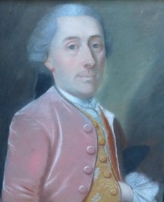 France 18th century, Portrait of a Gentleman, Pastel