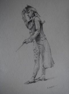 "Edouard Detaille (1848 1912), ""Un Muscadin"", Original Drawing"
