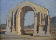 L.V. Guirand de Scevola (1871-1950), Triumphal Arch at Glanum  , Oil on panel