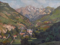 Jean Arnavielle (1881-1961)  A Mountain Landscape, Oil On Canvas