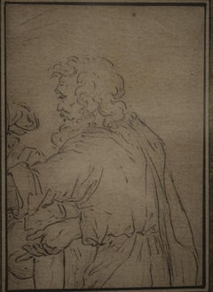 Italian School 17th Century, An Old Bearded Man, Old Master Drawing