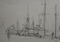 Pierre Lucas (1913 1978) Mastings In Saint Malo, 1959, Drawing