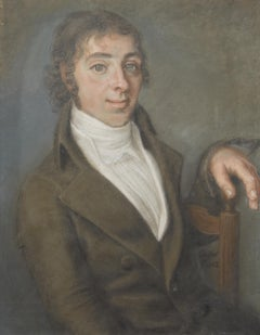 Boissier, Portrait of a Young Man, 1802, Pastel signed and dated
