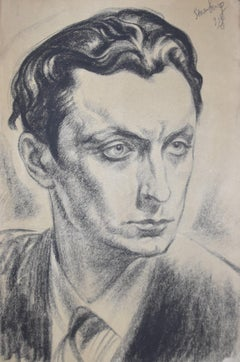 Nicolas Sternberg (1902-1960) Portrait of man, 1928, original drawing