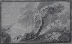 France 18th Century, Imaginary Lanscape, original drawing