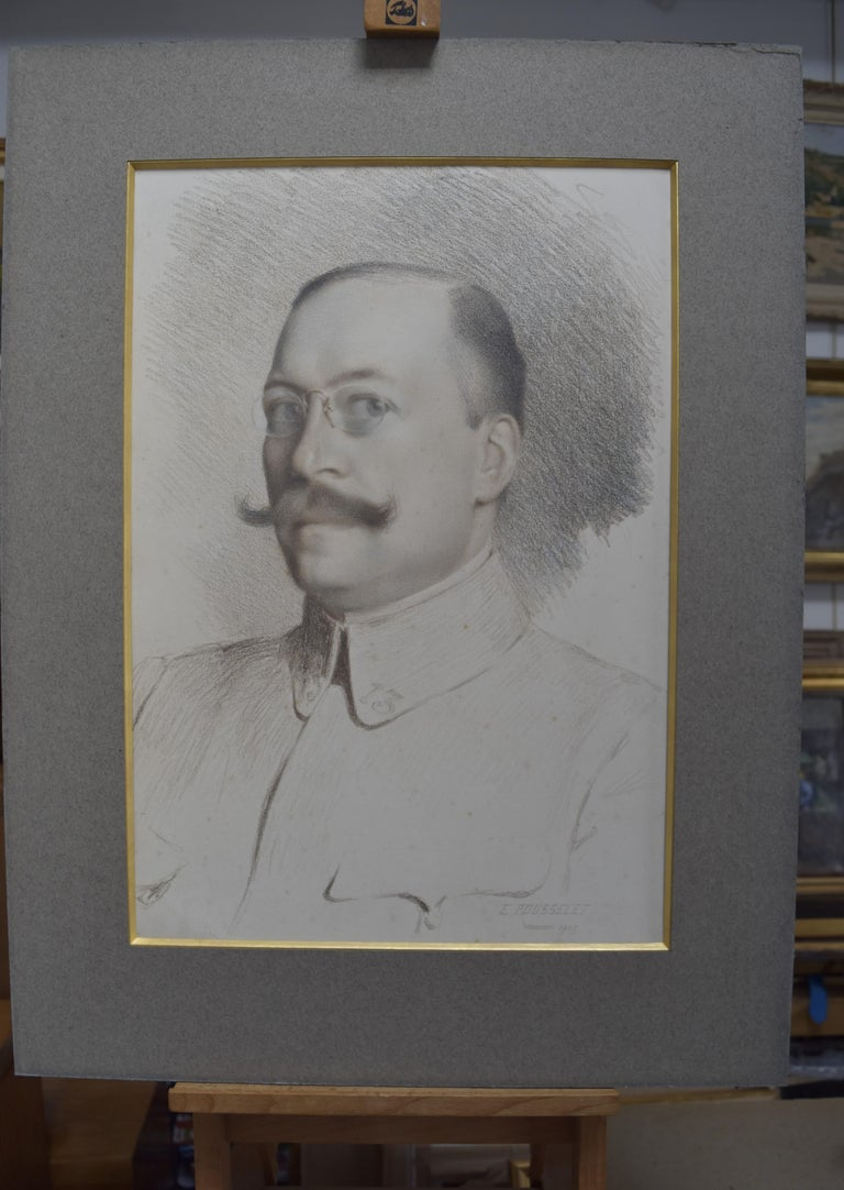 French School, Portrait of an officer, 1915, pastel on paper - Art by Unknown