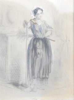 19th Century Figurative Drawings and Watercolors