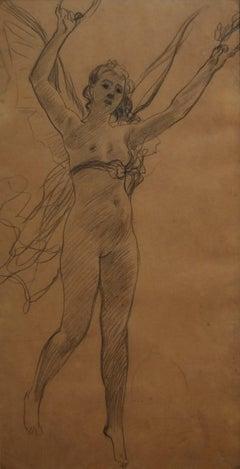 Henri-Lucien Doucet (1856-1895) An allegory, original drawing