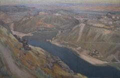 Emmanuel Aubain (1872-1965) A Landscape, signed oil painting