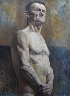 Alfred Marie Le Petit (1876-1953) Académie, a man half naked 1925, oil on canvas