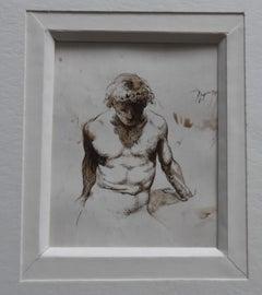 Christian Bouillé (1948-2005) A naked man, original drawing