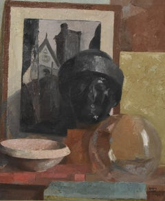 Roger Cortet (1910-1978) Stilllife with a sculpture, oil on canvas signed