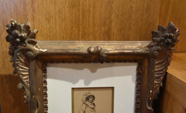 Ferdinand Roybet (1840-1920) A Musketeer, study, Drawing in its original frame For Sale 1